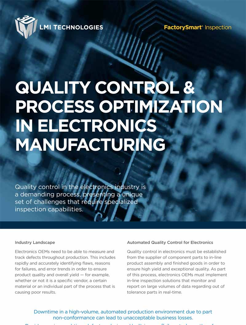 quality control & process optimization in electronics